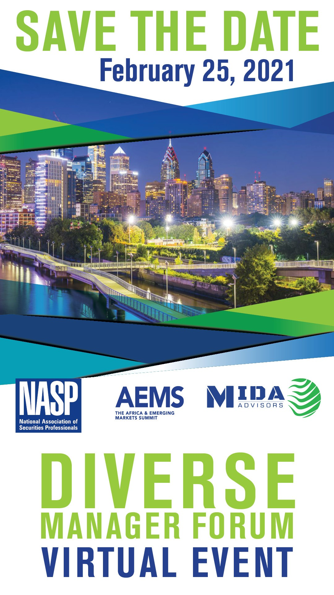 Diverse Manager Forum Save the Date February 25, 2021